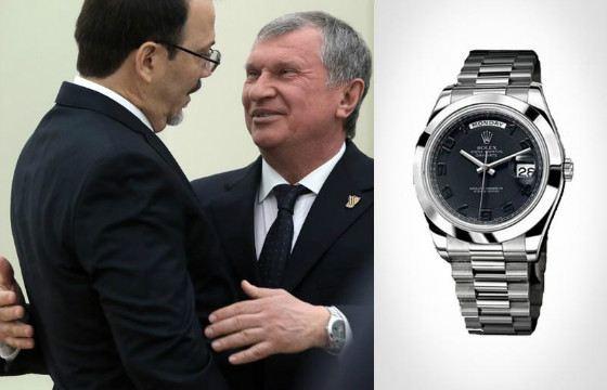 Часы Игоря Сечина стали частью «Барсучовской» ГЭС