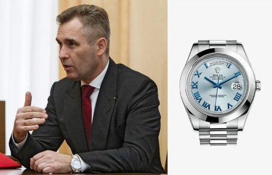 Любимой маркой Павла Астахова является Rolex