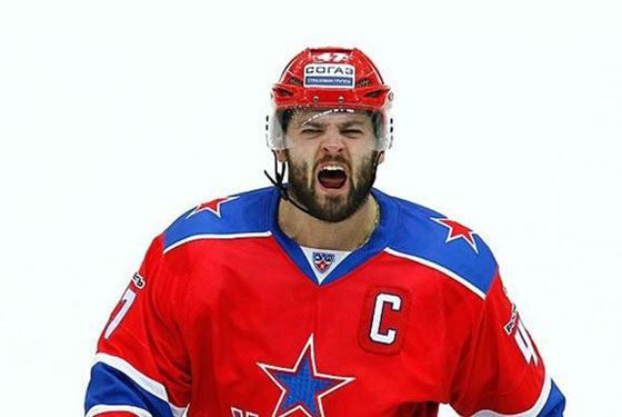 Expressive hockey player Alexander Radulov