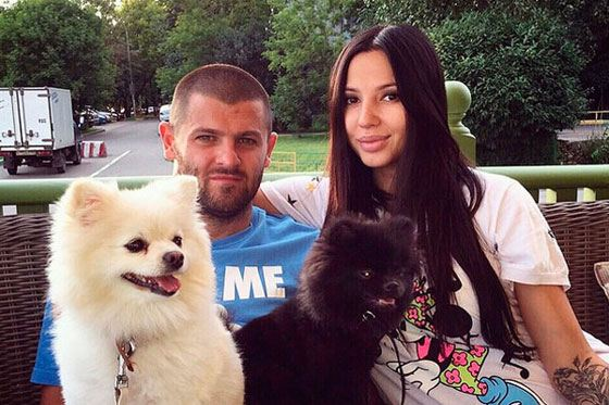 Alexander Radulov and his wife Daria