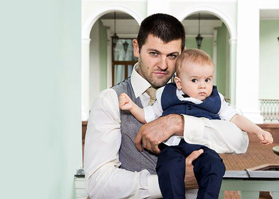 Alexander Radulov with his son Makar