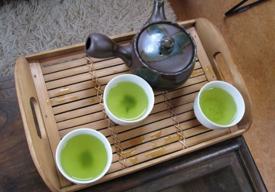 Japanese Gyokuro tea is enriched with iodine and calcium