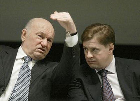 Andrey Borodin and Yury Luzhkov