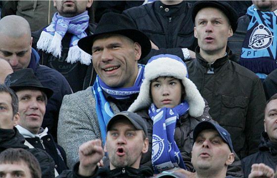 Валуев ходит на стадион с сыном