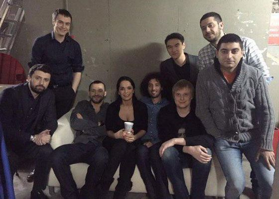 Julia Akhmedova and the Stand UP team