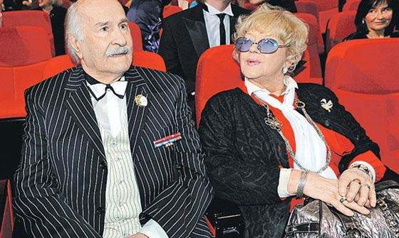 Владимир Зельдин с женой