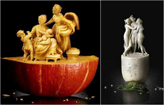 В умелых руках фрукты и овощи превращаются в шедевры