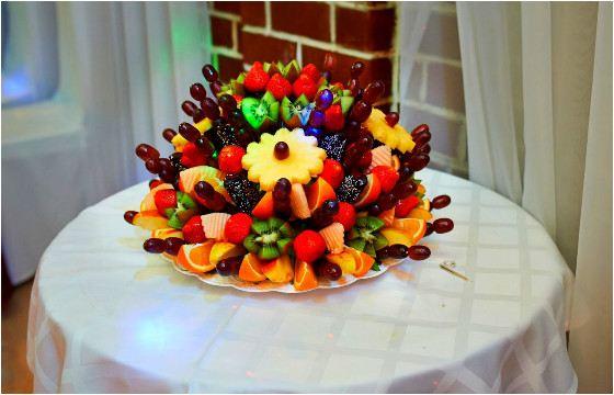 Собрать такой фруктовый букет совсем несложно