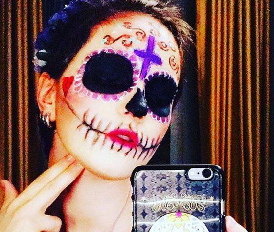 Дочь Ларисы Гузеевой разрисовала лицо