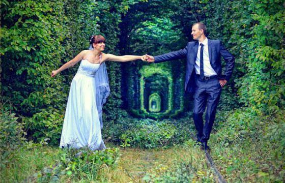 В тоннель любви часто приходят молодожены
