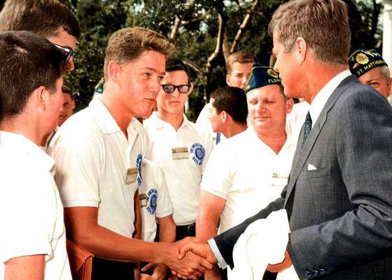 Билл Клинтон и Джон Кеннеди