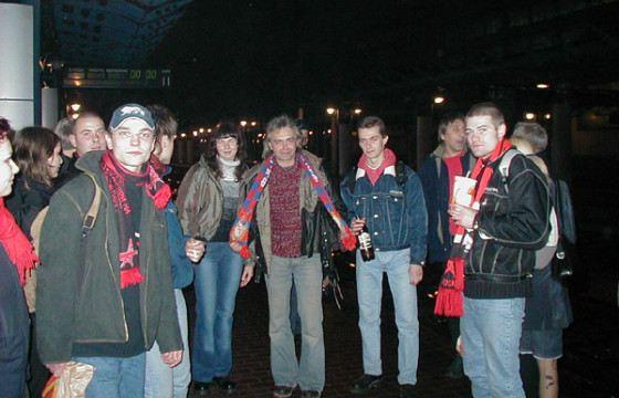 Константин Кинчев в шарфе ЦСКА