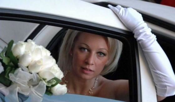 Wedding photo of Maria Zakharova (2005)