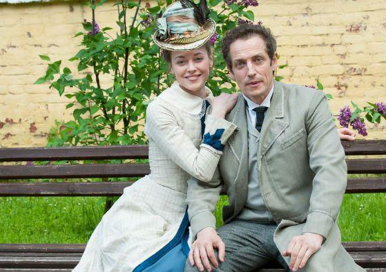 In the photo: Alexandra Nikiforova and Dmitry Frid