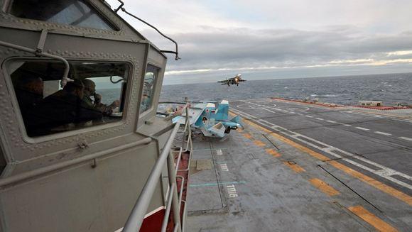 Разбился один из истребителей авианосца «Адмирал Кузнецов»