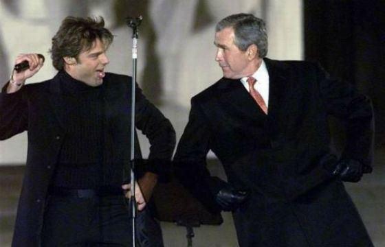 Рики Мартин станцевал с Джорджем Бушем