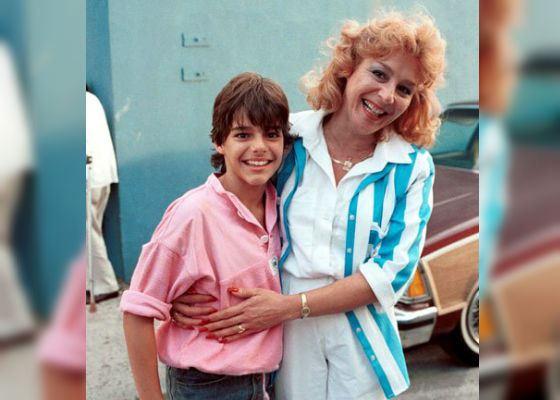 Юный Рики Мартин с мамой