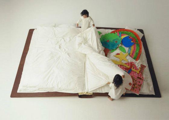 В такую кровать можно уложить двоих детей