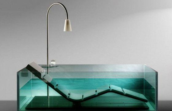 Стеклянные ванны достаточно прочные