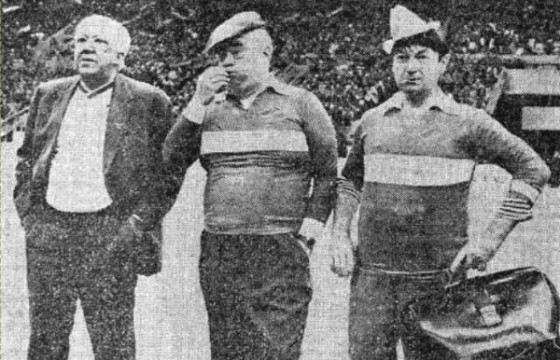 Легендарная троица на футбольном матче
