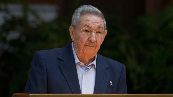 In the photo: Fidel Castro's brother, Raul Castro.