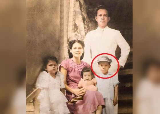 Rodrigo Duterte in childhood (pictured with family)