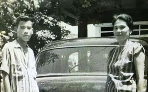 Young Rodrigo Duterte with his mother