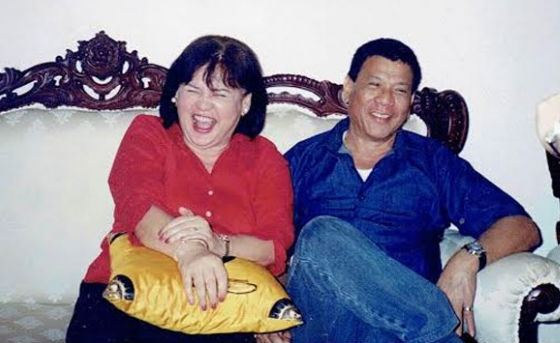 Rodrigo Duterte with ex-wife Elizabeth