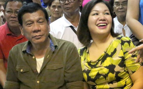 Right - girl Rodrigo Duterte, Cielito Avengna