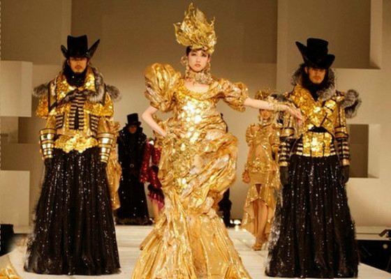 Японский дизайнер любит золото