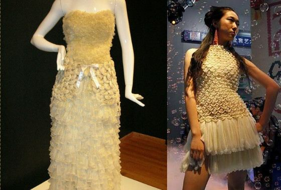 Платья из презервативов не пользуются популярностью у невест