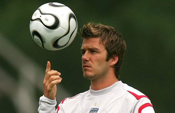 David Beckham can beat accurately and hard
