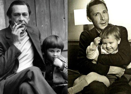Михаил Ефремов с отцом, Олегом Ефремовым