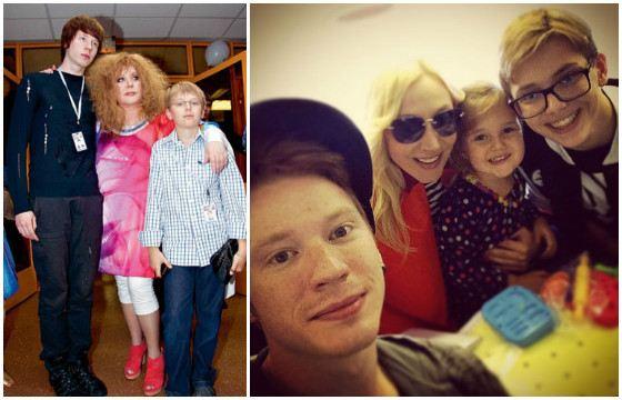 Grandsons of Alla Pugacheva: Nikita, Denis and Claudia
