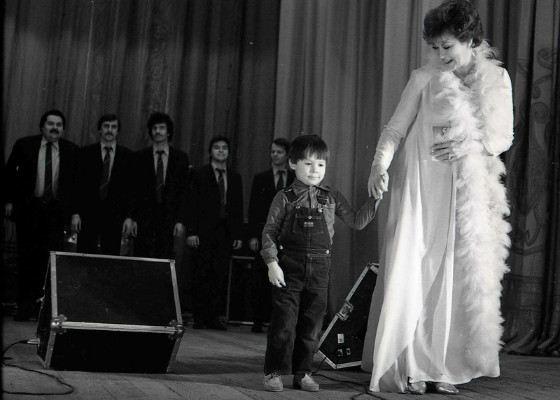 Edita P'eha with her grandson