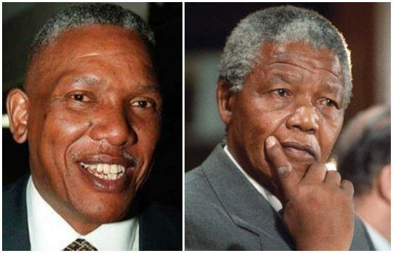 Нельсон Мандела и его сын Макгахо