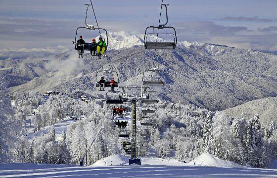 Красная Поляна - современный горнолыжный курорт