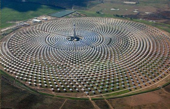 Действующий завод концентрированной солнечной энергии