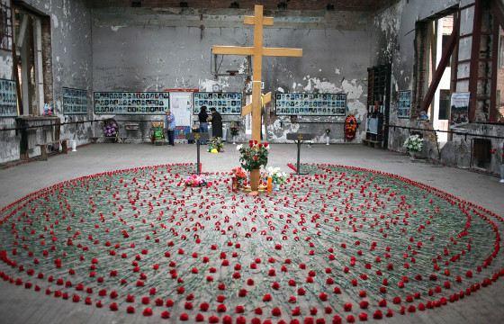 Зал, где террористы удерживали детей