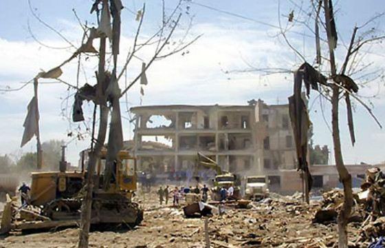 «КамАЗ» с грузом взрывчатки взорвался на территории военного госпиталя в Моздоке