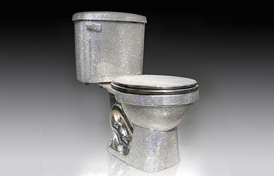 Toilet bowl with diamonds from the English designer Jemal Wright