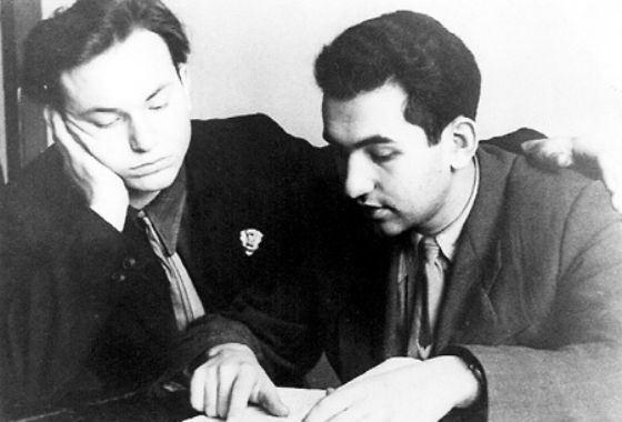 Yury Luzhkov (left) - student of the Gubkinsky Institute