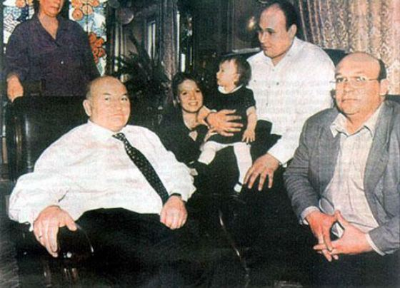 Yury Luzhkov with his sons from his first marriage