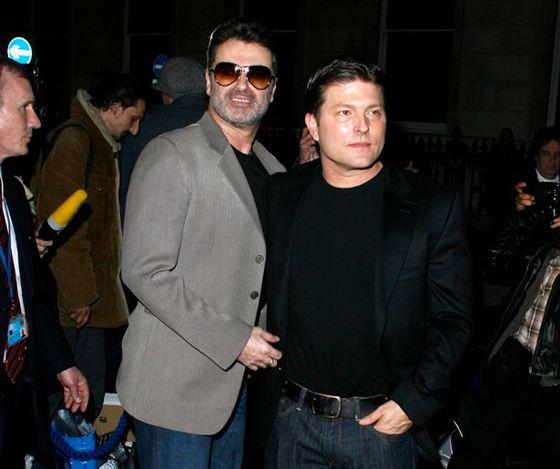 Джордж Майкл и Кенни Госс в 2008 году
