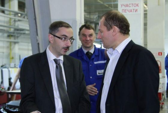 """The head of the group of companies """"Polygraph"""" Maxim Yakovlev in production"""
