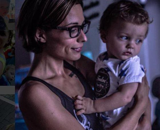 Дарья Ермолаева со старшим ребенком