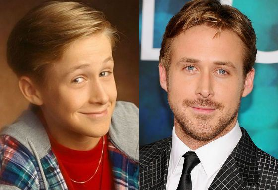 Ryan Gosling in childhood and now
