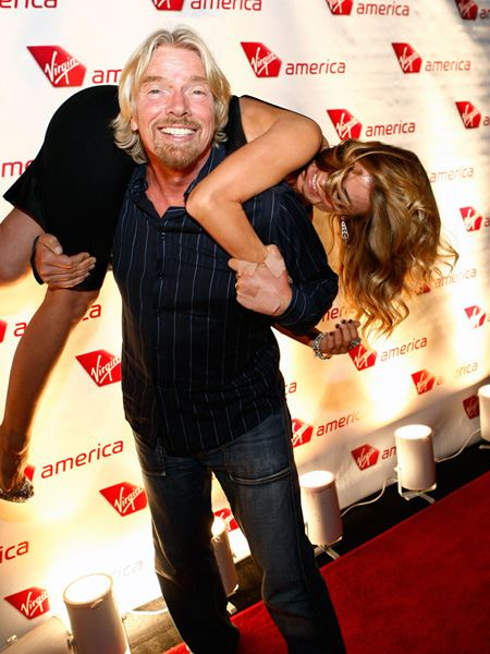Ричард Бренсон с женой